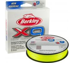 Šnúra BERKLEY X9 Braid Fluro Green